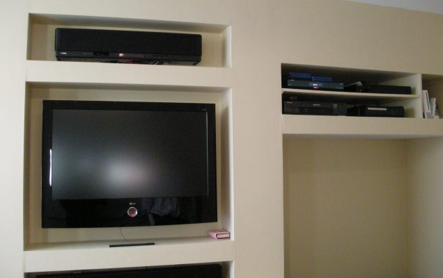 home cinema installation done by a professional plasterer
